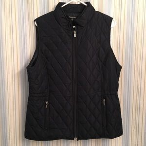 Relativity Black Quilted Vest